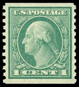 United States Stamp Values - 1914-1916 Regular Issues