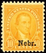 United States Stamp Values Kansas Nebraska Overprints Of